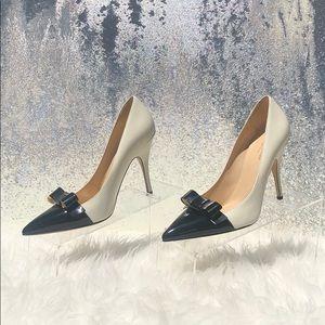 Kate Spade Black & White Bow Pumps
